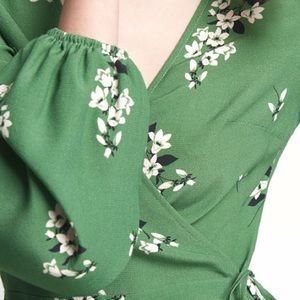 ff264597c9d0 ASOS Dresses - Green Wrap Midi Dress (Realisation Par Violette)